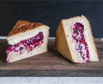 White Chocolate Berry Brioche Cake