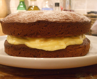 Let us eat cake, again! Chocolate Sponge cake with Orange Curd and Cream Filling