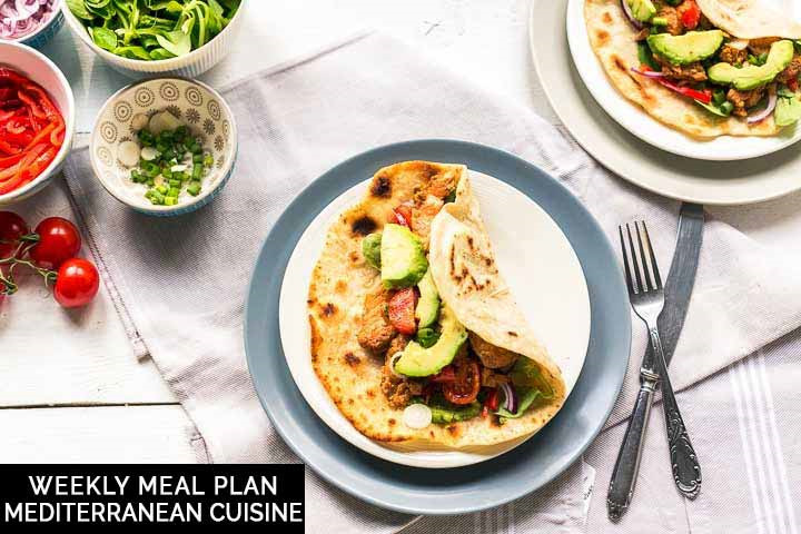 Weekly meal plan: Mediterranean cuisine