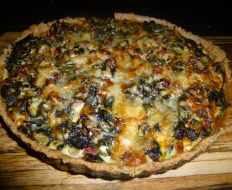 Whole Wheat Gruyere Cheese, Spinach and Pancetta Tart Recipe