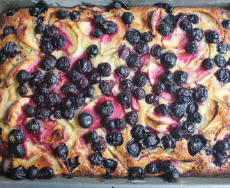 Apple and Blueberry Pudding