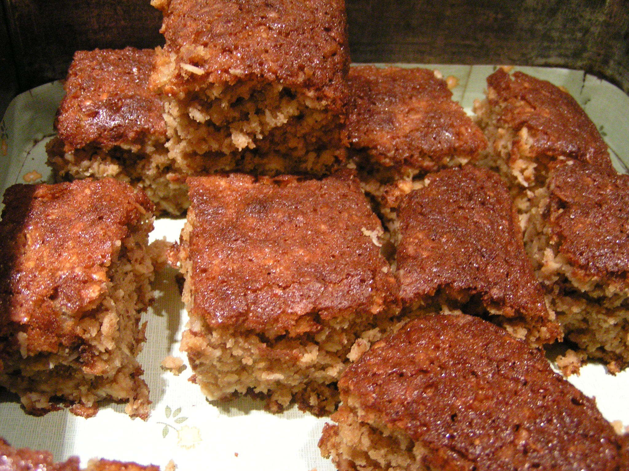 Banana and Coconut Blondies - good for lunchboxes