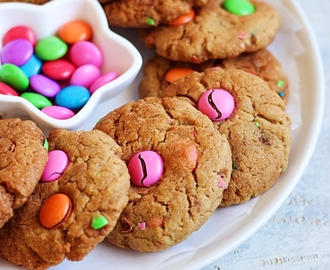 M&M cookies recipe – eggless and whole wheat m and m cookies recipe