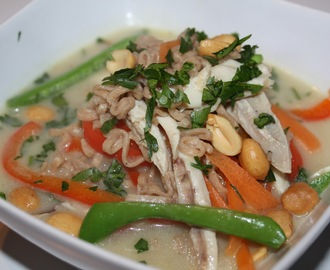 Thai-inspireret suppe