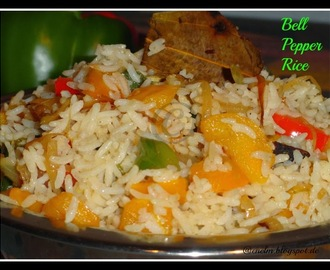 Bell Pepper Rice/Capsicum rice/Paprika Rice