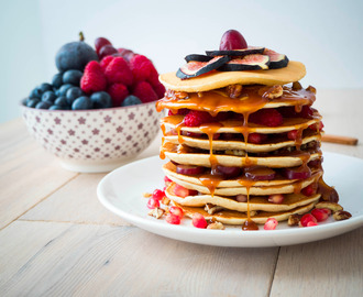 4 Ingredient Gluten-Free Pancakes, vegan!