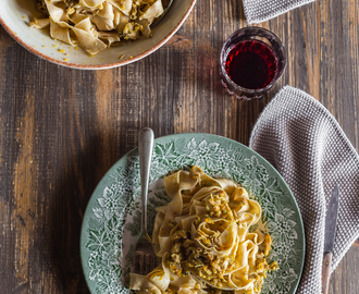 Tagliatelle with Guinea fowl ragù and a meditation on photography and writing