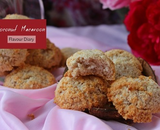 Coconut Macaroons recipe | Sweet Treat tea time snack | Flavour Diary