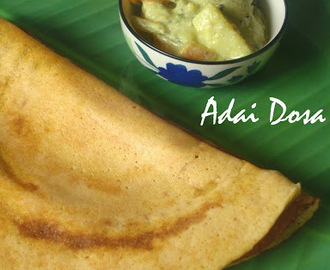Adai Dosa Recipe | Dosa with lentils | Protein rich breakfast | South Indian Breakfast Recipe