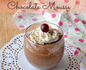Chocolate Mousse | Eggless Chocolate Mousse ~ Guest post by Sangeetha