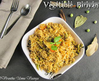 VEGETABLE BIRYANI - OPEN POT METHOD