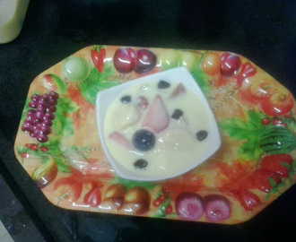 Fruit custard |how to make Mixed fruit custard recipe