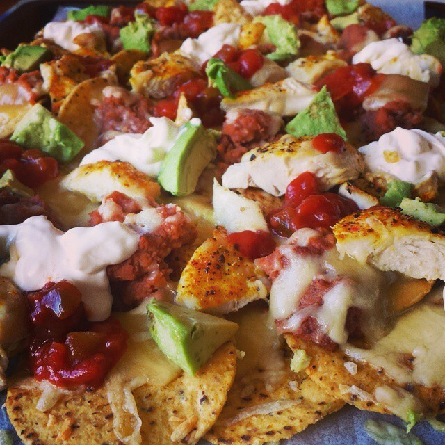 Sometimes I make nachos. You can't have any, because they...