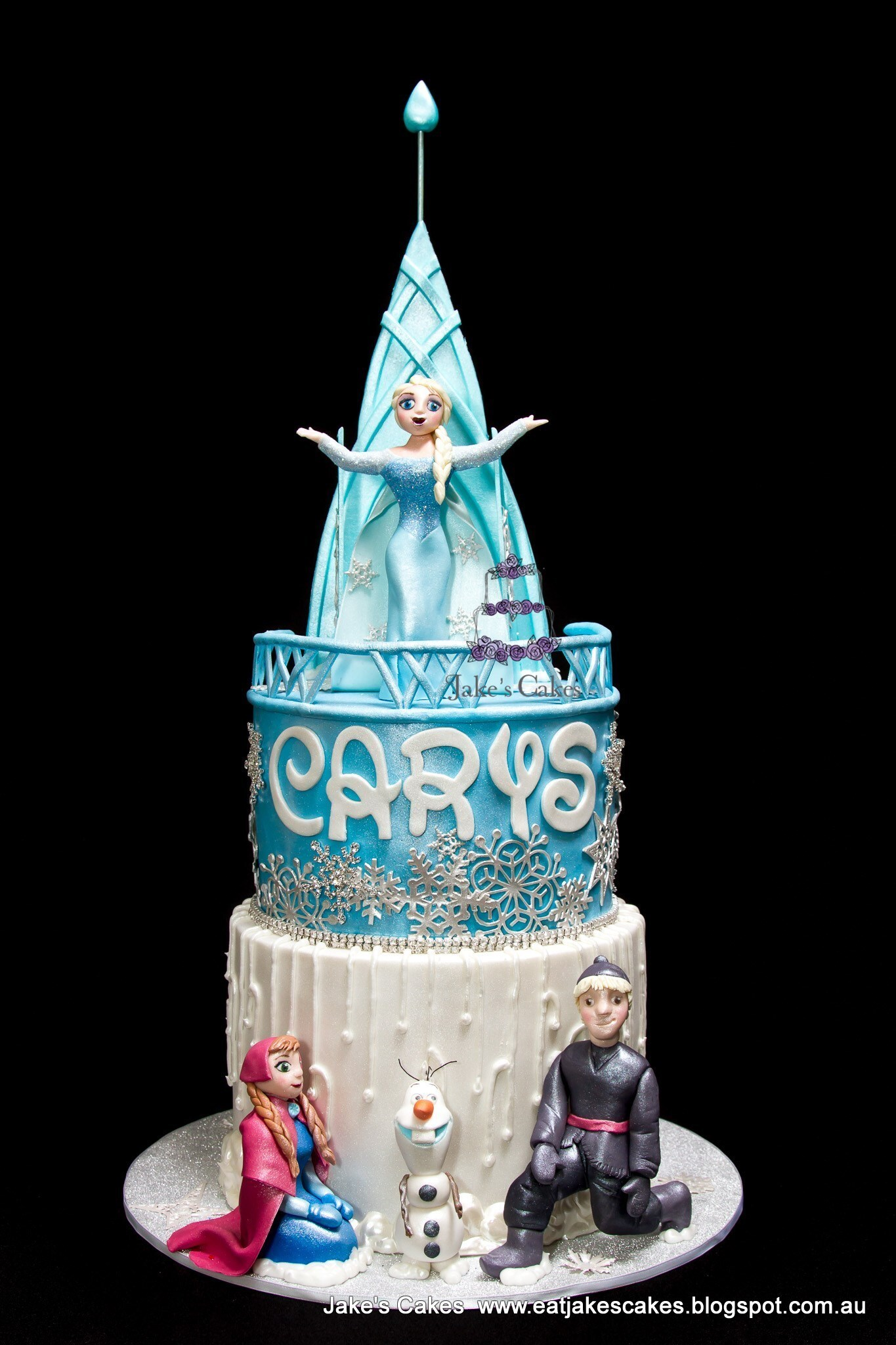 My Daughter's Frozen 4th Birthday Cake