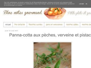 Blog notes gourmand