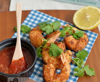 Coconut Prawns with Sweet Chill and Ginger Dipping Sauce