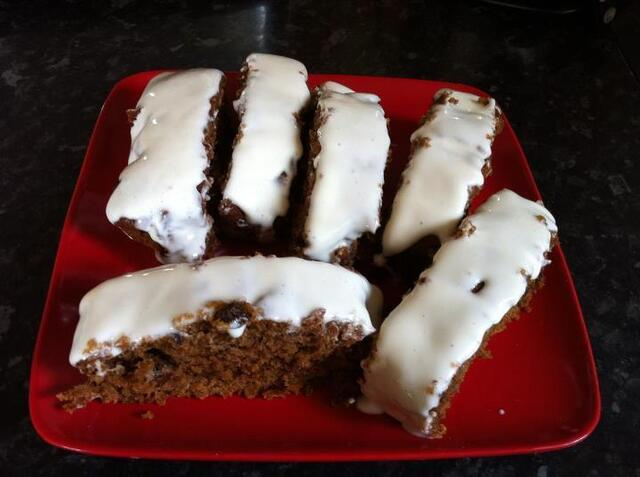 Levi Root's West Indian fruit cake with cream cheese topping - random recipes, tea time treats, Bake Fest and baking with spirit.