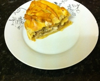 Cold chicken and ham pie - tea time treats picnic pies.