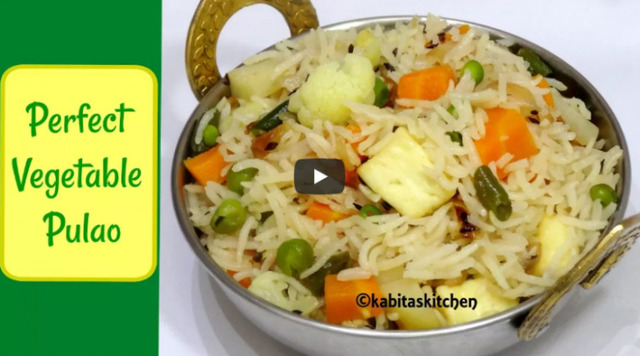 Vegetable Pulao Recipe Video