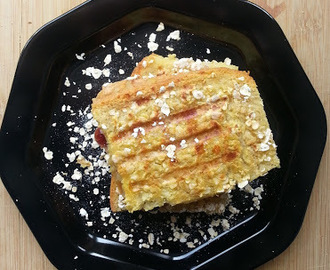 Oat Crusted Apple filled French toast