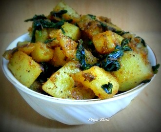 Aloo Methi Recipe / Potatoes with fenugreek Leaves