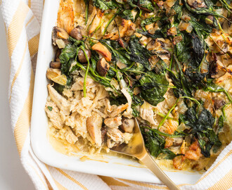 Paleo Chicken and Celeriac Rice Casserole