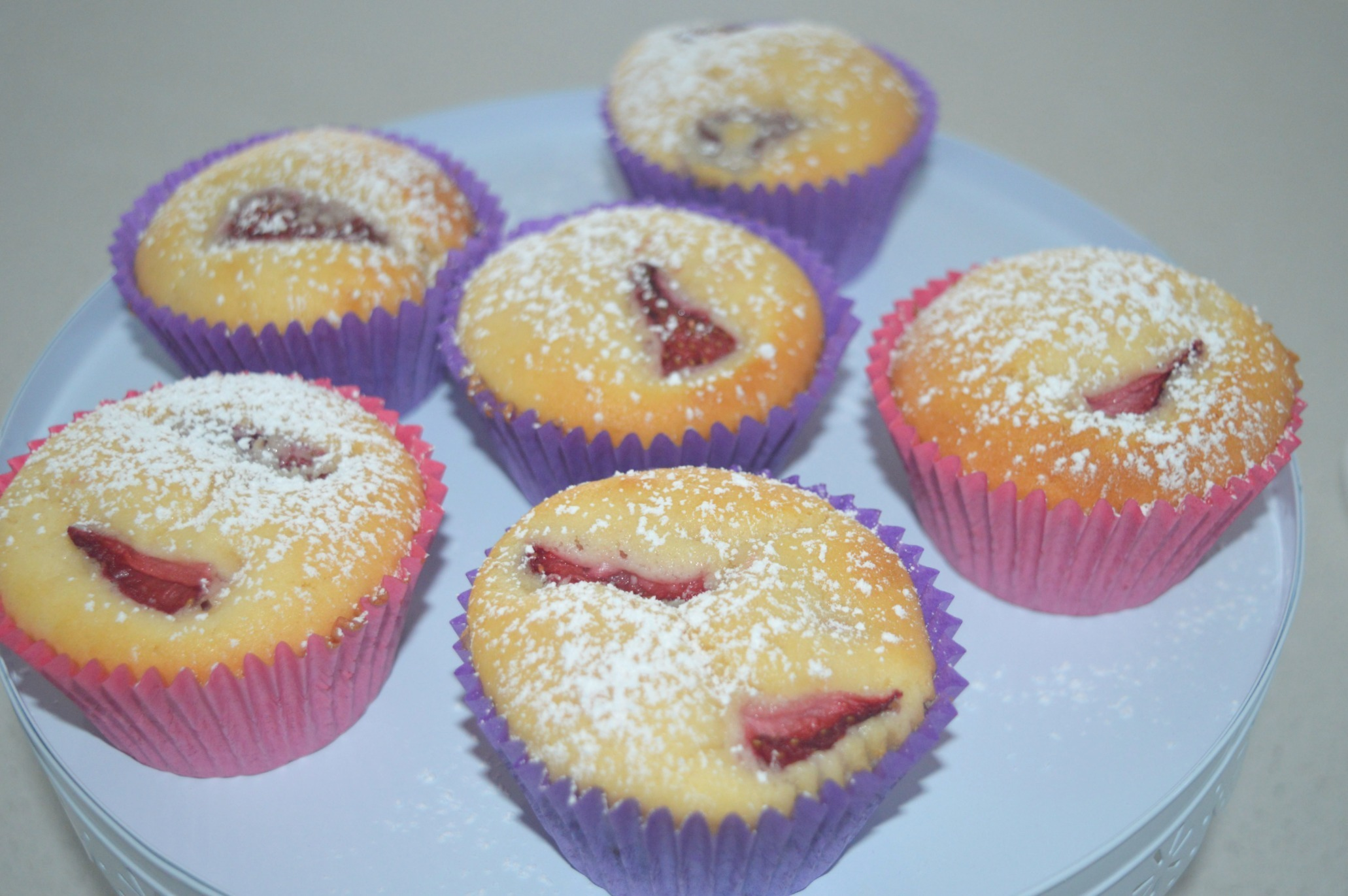 Thermomix Strawberry Cupcakes