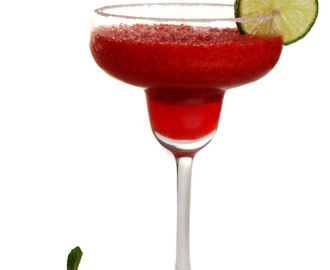 Frozen strawberry margarita!