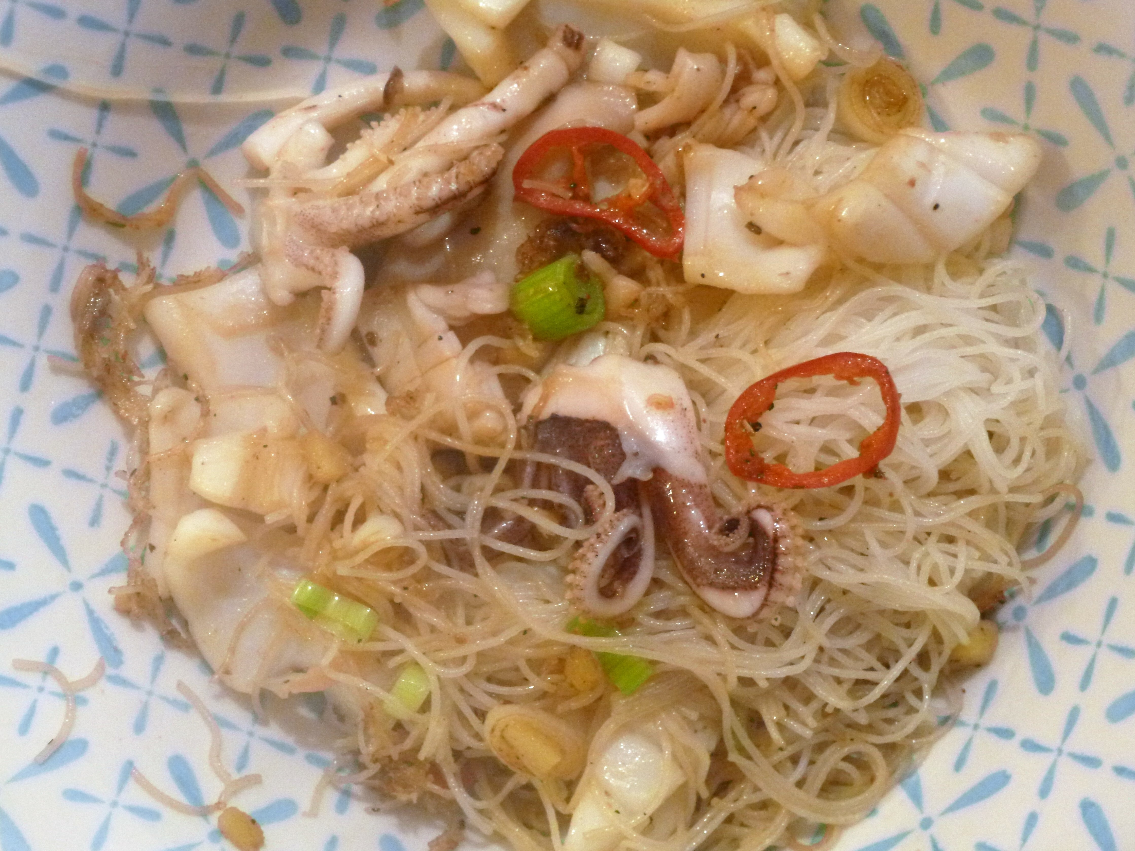 salt and Pepper squid and noodle Stir Fry Recipe