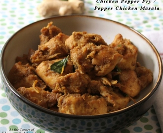 Indian Chicken Pepper Fry / Pepper Chicken Masala
