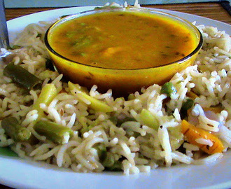 Vegetable Pulao - Pressure cooker recipes