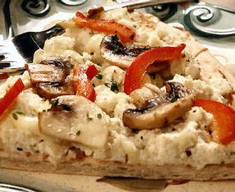 Capsicum and Mushroom Pizza