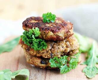 Eggplant Fritters with Mushrooms and Herbs