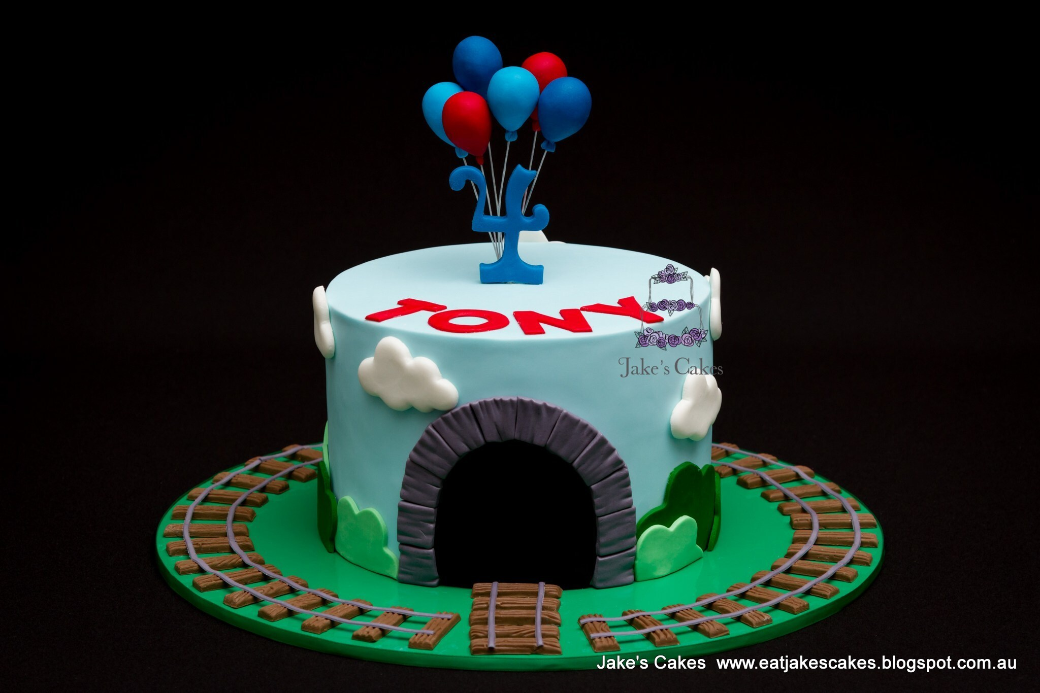 Thomas the Tank Engine inspired cake