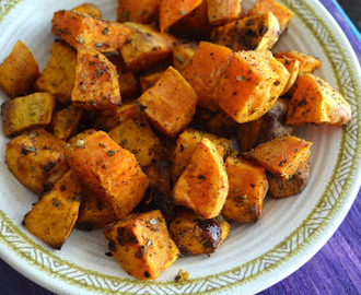 Roasted Sweet Potatoes with Honey and Spices