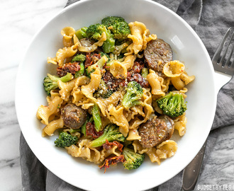 One Pot Sausage and Sun Dried Tomato Pasta