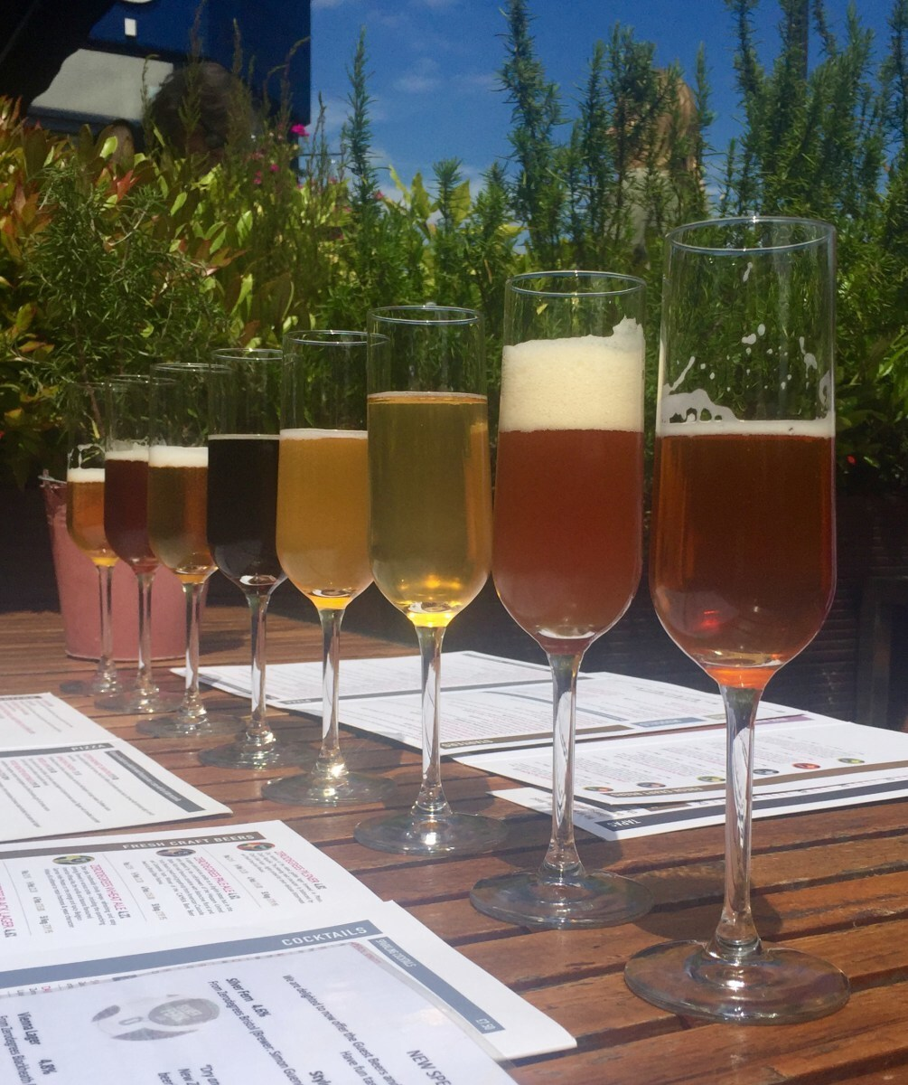 Beer tasting and tasty lunch in sunny Blackheath