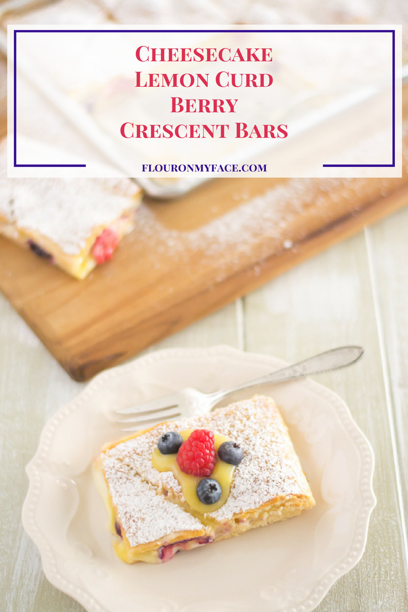 Cheesecake Lemon Curd Berry Crescent Bars #EasterwithPillsbury
