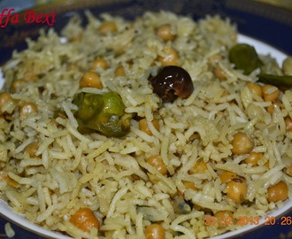 Chick peas Rice (Chana Palao) Guest Post for Shazzy