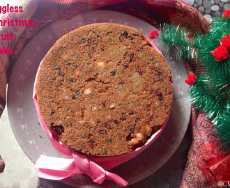 Eggless Christmas Fruit Cake /Eggless Plum Cake