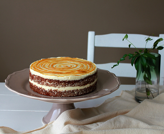 Honey Spice Cake with Honey Caramel Cream Cheese Frosting