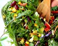 Southwestern Kale Salad with Creamy Avocado Dressing
