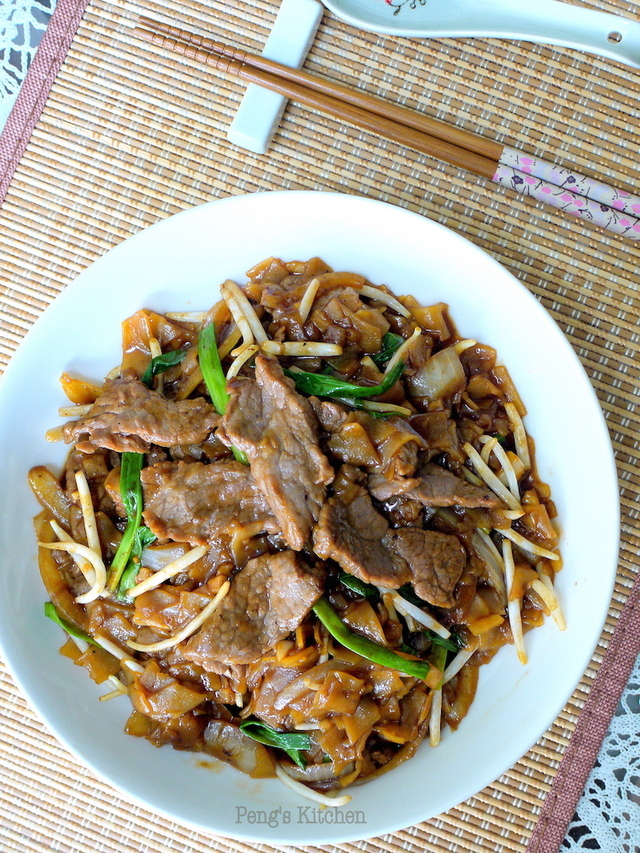干炒牛河 Fried Rice Noodles with Beef