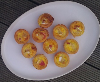 Mini quiche - canapes for a Private View