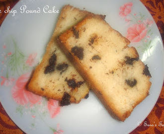 Chocolate chip Pound cake – Eggless and Butterless
