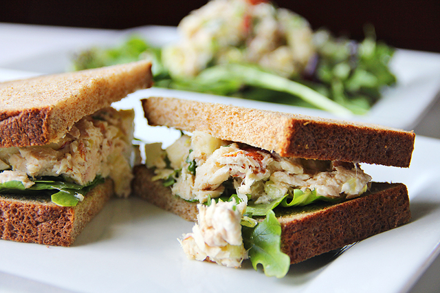 Apple Tuna Almond Salad
