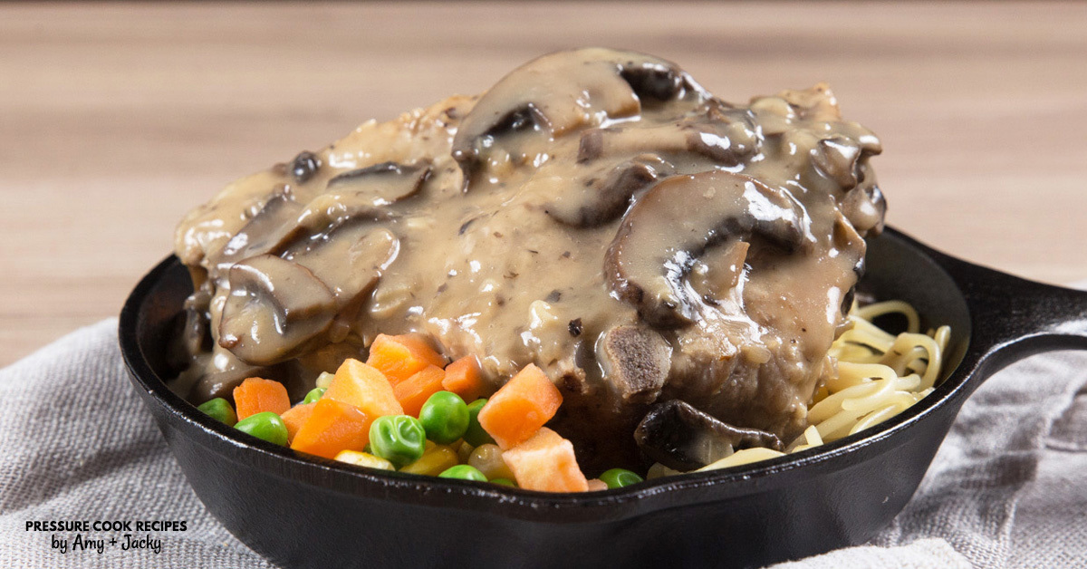 Instant Pot Pork Chops in HK Mushroom Gravy