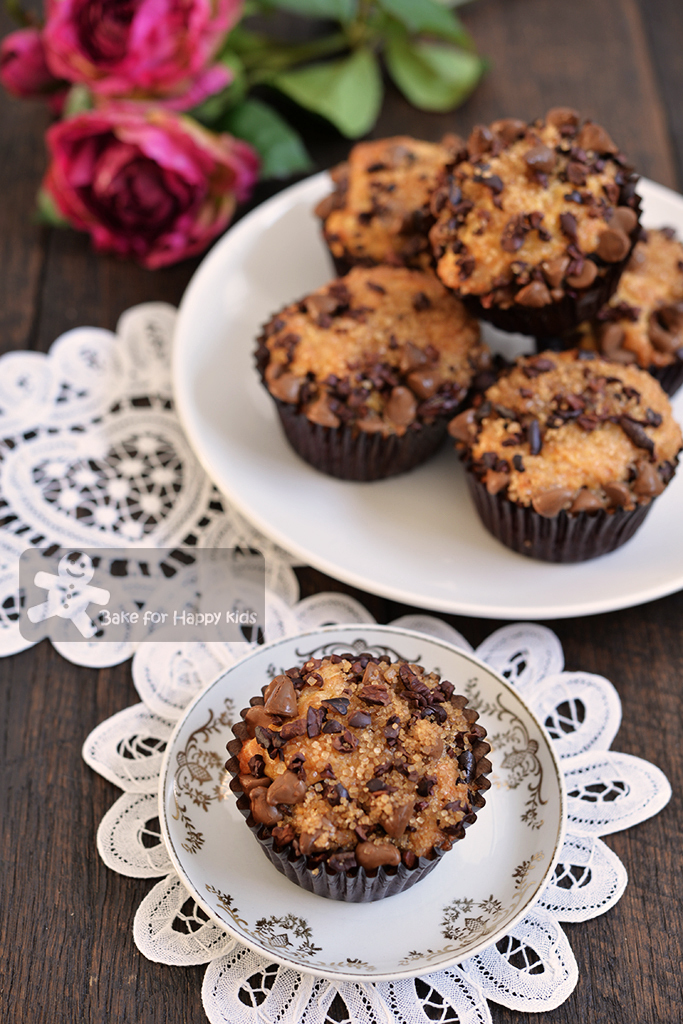 White Chocolate Muffins with Cacao Nibs Crumbs - Easy, Melt and Mix (Donna Hay)