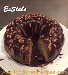 ES'S BANANA AND CINNAMON CAKE WITH CHOCOLATE GANACHE