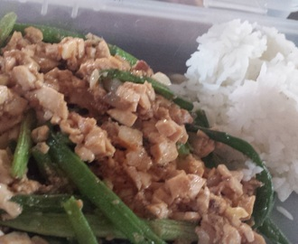 Tofu and French Bean Stir-Fry